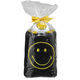 PACK TOALLAS SMILEY negro