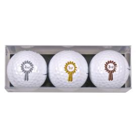 Tres bolas motivo 1° 2° 3°