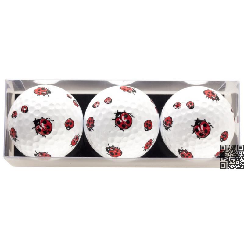 Tres bolas - motivo Mariquitas