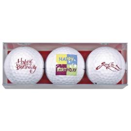 Tres bolas motivo Happy Birthday 3
