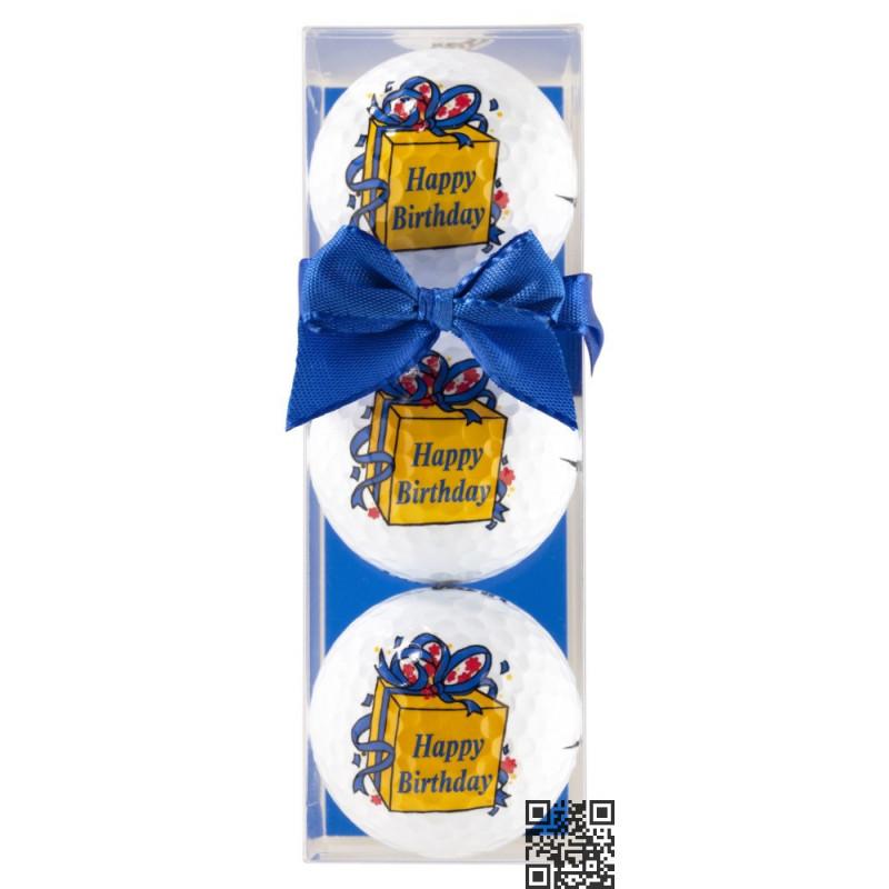 Tres bolas - motivo Happy Birthday